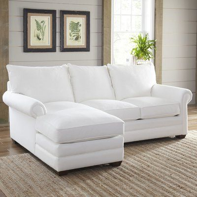 """Widely Used Birch Lane™ Heritage Gunnel 118"""" Sofa & Chaise Body Fabric Throughout Hannah Right Sectional Sofas (View 4 of 10)"""