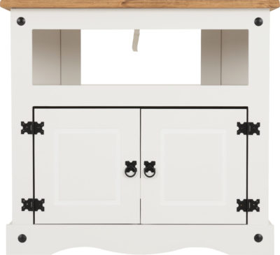 Widely Used Corona Corner Tv Cabinet – White/distressed Waxed Pine With Regard To Cambourne Tv Stands (View 8 of 10)