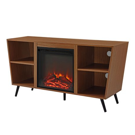 Widely Used Manor Park Mid Century Modern Hairpin Fireplace Tv Stand For Tv Stands With Led Lights In Multiple Finishes (View 8 of 10)