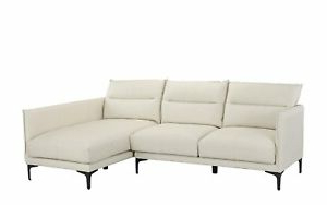 Widely Used Mid Century Non Reversible Leather Match Sectional Sofa, L Regarding Verona Mid Century Reversible Sectional Sofas (View 6 of 10)