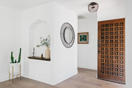 Widely Used Perfect Modern Spanish Miniminalism In Leimert Park In Farmhouse Woven Paths Glass Door Tv Stands (View 1 of 10)
