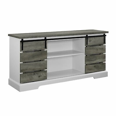 Widely Used Woven Paths Sliding Slat Door Tv Stand For Tv's Up To 64 Inside Woven Paths Barn Door Tv Stands In Multiple Finishes (View 8 of 10)