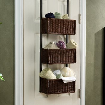 Wildon Home ® 3 Tier Overdoor Hanging Organizer & Reviews In Most Up To Date Bromley Blue Wide Tv Stands (View 5 of 10)