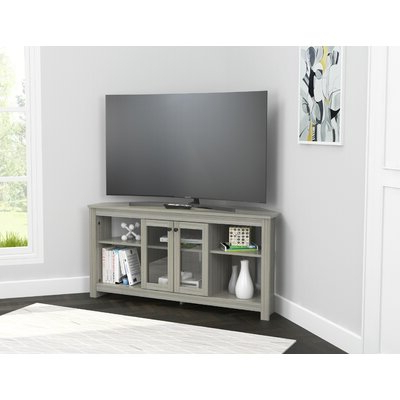 """Winston Porter Wisser Corner Tv Stand For Tvs Up To 60 Inside Most Current Corner Tv Stands For Tvs Up To 60"""" (View 5 of 10)"""