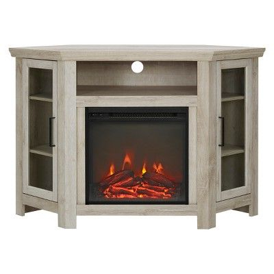 """Wood Corner Fireplace Console Tv Stand For Tvs Up To 50 Throughout Popular Lansing Tv Stands For Tvs Up To 50"""" (View 7 of 10)"""