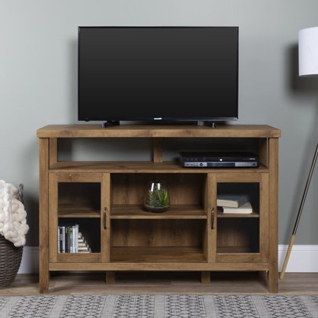 Woven Paths Farmhouse Tall Tv Stand For Tvs Up To 58 Regarding Current Woven Paths Barn Door Tv Stands In Multiple Finishes (View 5 of 10)