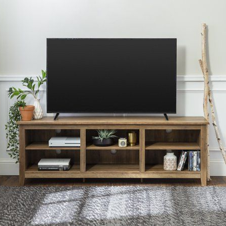 Woven Paths Open Storage Tv Stand For Tvs Up To 80 Throughout Most Recently Released Woven Paths Open Storage Tv Stands With Multiple Finishes (View 2 of 10)