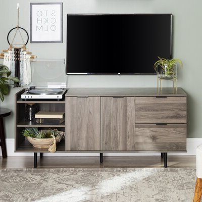 """Wrought Studio™ Pillar Tv Stand For Tvs Up To 65"""" Color Inside Most Up To Date Neilsen Tv Stands For Tvs Up To 65"""" (View 3 of 10)"""