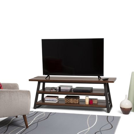 Wyndenhall Tyson Solid Wood Low Tv Media Stand In Light Within Most Recent Jackson Wide Tv Stands (View 2 of 10)