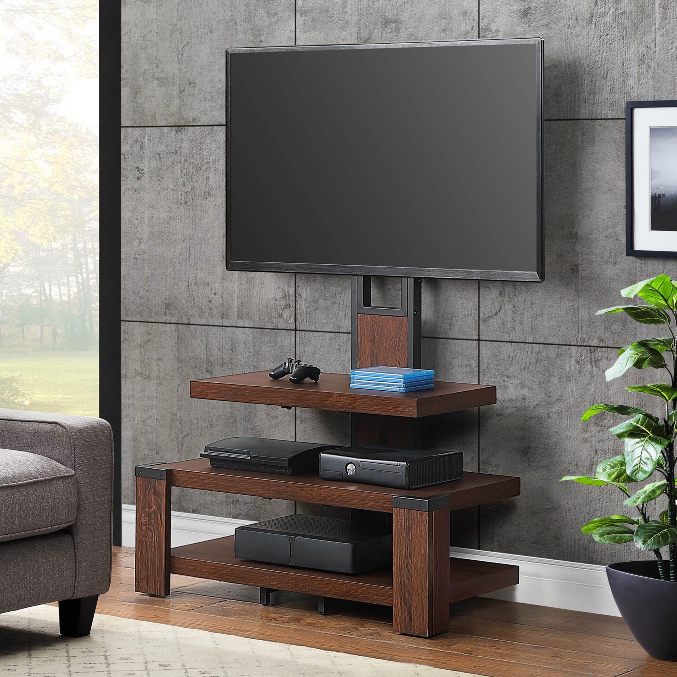 Brown Whalen Shelf Tv Stands (View 3 of 6)