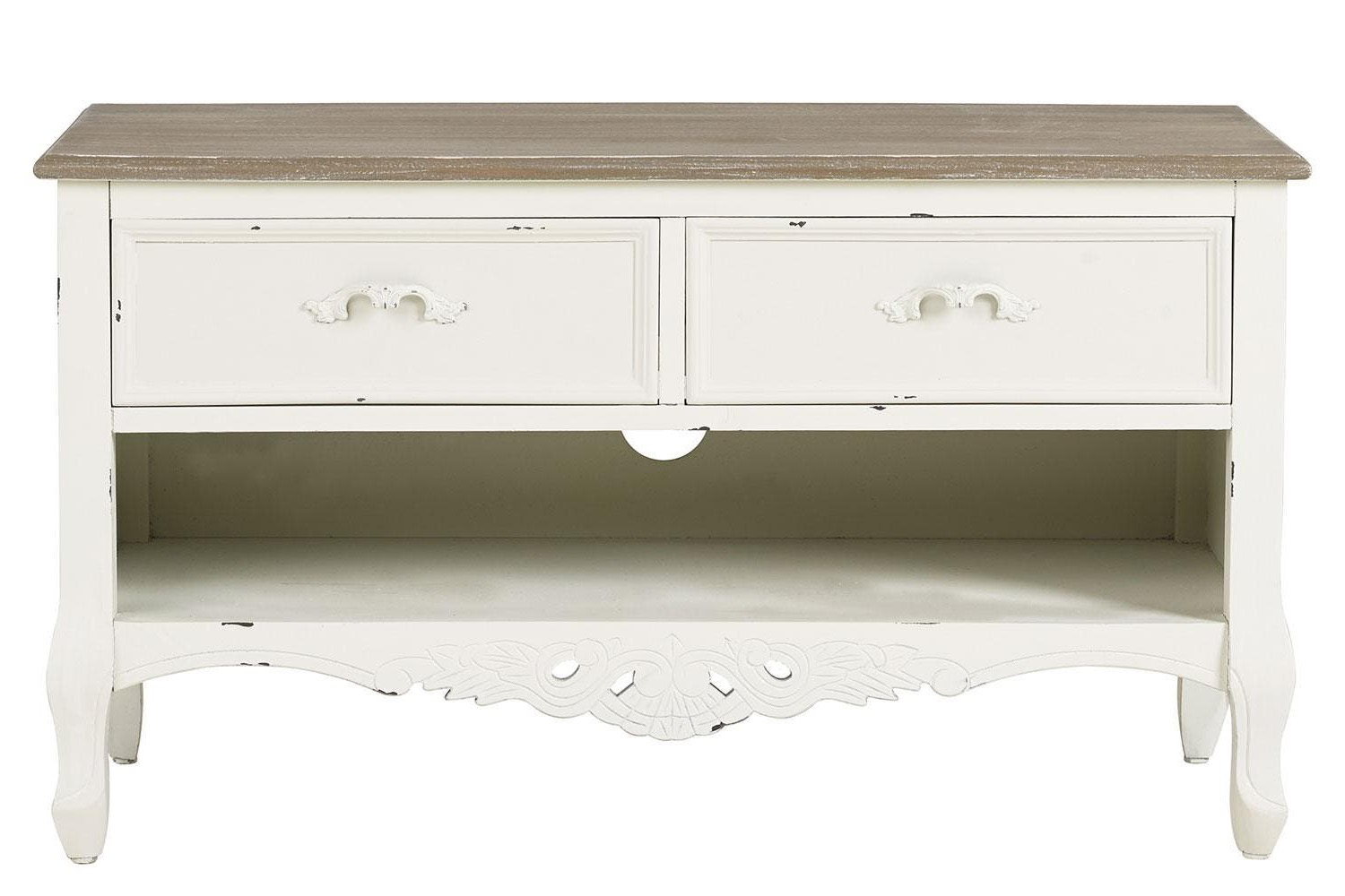 White Hanna Oyster Corner Tv Stands (View 5 of 7)
