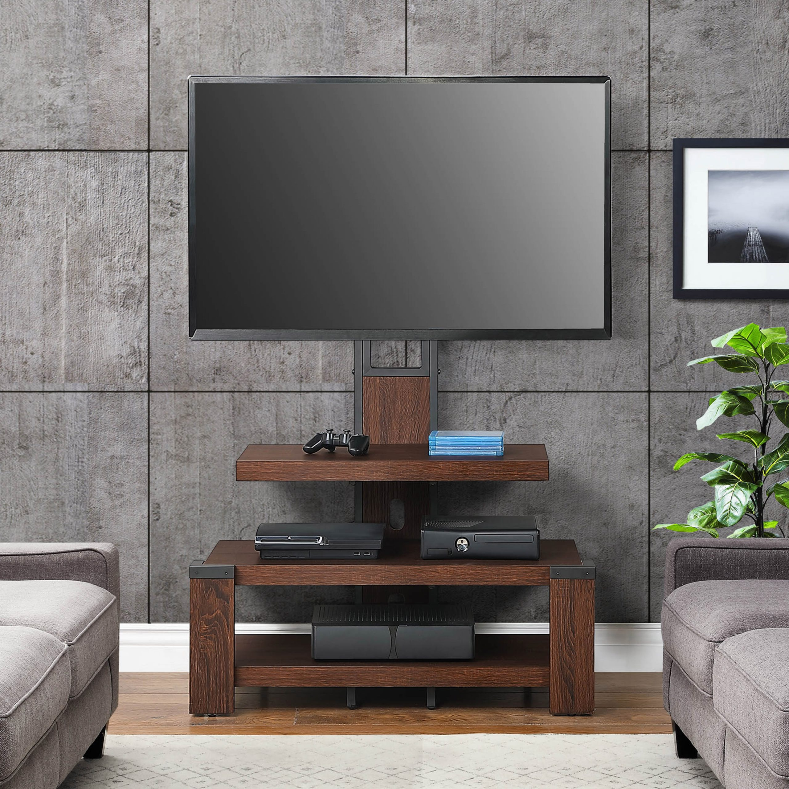 Wooden Whalen Shelf Tv Stands (View 4 of 6)