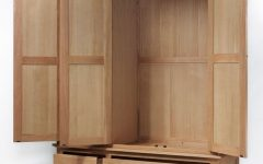Double Rail Oak Wardrobes
