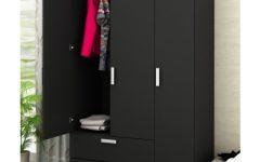 3 Door Black Wardrobes