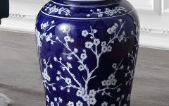 Williar Cherry Blossom Ceramic Garden Stools