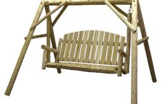 3-person Natural Cedar Wood Outdoor Swings
