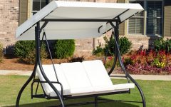 3-seater Swings with Frame and Canopy