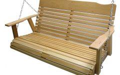 5-Ft Cedar Swings With Springs