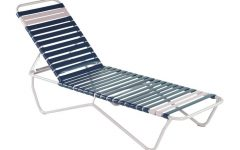 Vinyl Strap Chaise Lounge Chairs