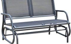 2-Person Gray Steel Outdoor Swings