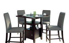 Bistro Transitional 4-seating Square Dining Tables