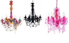Fuschia Chandelier