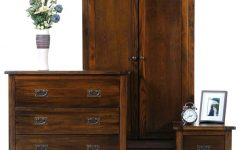 Dark Wood Wardrobes With Drawers
