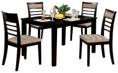 Hanska Wooden 5 Piece Counter Height Dining Table Sets (Set Of 5)