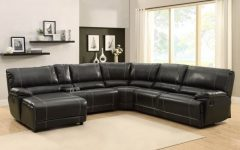 Black Leather Sectionals With Chaise
