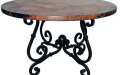 Black Top  Large Dining Tables With Metal Base Copper Finish