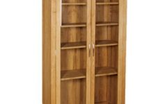 Oak Glazed Bookcases