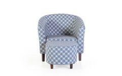 Brames Barrel Chair and Ottoman Sets