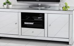 Mirrored Furniture Tv Unit