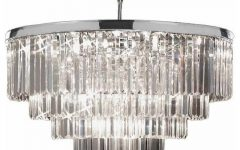 Chrome And Glass Chandeliers