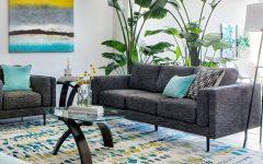 Aquarius Dark Grey Sofa Chairs