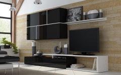 Black Gloss Tv Wall Unit