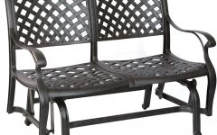 Aluminum Glider Benches with Cushion