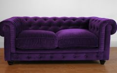 Velvet Purple Sofas