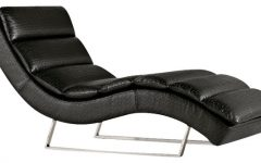 Black Leather Chaise Lounge Chairs