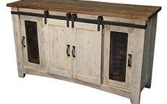 Noah Rustic White 66 Inch Tv Stands