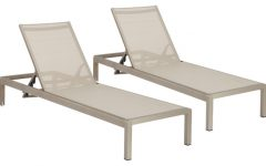Outdoor Mesh Chaise Lounge Chairs