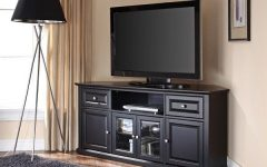 Black Corner Tv Stands for Tvs Up to 60