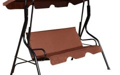 3 Seats Patio Canopy Swing Gliders Hammock Cushioned Steel Frame