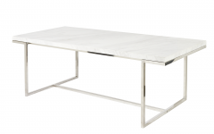Dining Tables with Brushed Stainless Steel Frame