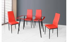 Linette 5 Piece Dining Table Sets
