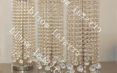 Faux Crystal Chandelier Centerpieces
