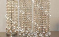 Faux Crystal Chandelier Centerpieces