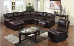 Brown Leather Sectionals With Chaise