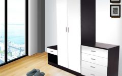 Black And White Wardrobes Set