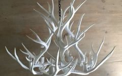 White Antler Chandelier